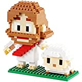 Jesus And The Parable Of The Lost Sheep Mini Building Block Set - Bible Inspired, Faith Based, Christian Toy - Jesus + Lamb Figure = 280 Pcs - Recommended Ages 8+ | TOVBLOCK