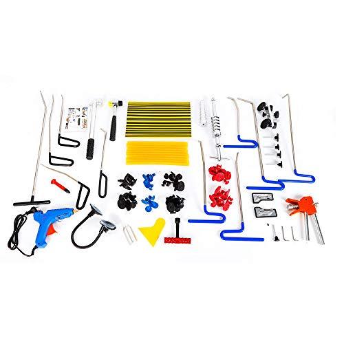 OUKANING Dellen-Reparaturset 104tlg Auto Dellen Repair Puller Kits Dellenentfernung Ausbeulwerkzeug Gleithammer