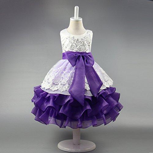 RBB Mädchen Röcke Kleider Multilayer Kuchen Kleider Top Pailletten Organza Tutu Kinderkleider,lila,130cm (Lila Organza Tutu)