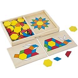Melissa & Doug 29 Pattern Blocks and Boards