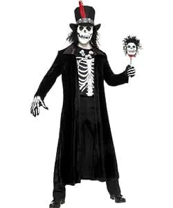 Smiffy's 30403M Voodoo-Mann-Kostüm, M, schwarz