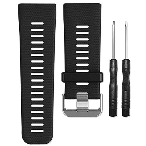 ACUTAS Silicone Watch Band Strap with Tools for Garmin Vivoactive HR Watch (Size : Large) (Black)