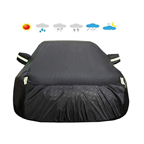 HEQCG Kompatibel mit Auto-Abdeckungen OPEL Zafira, PU wasserdicht Sonnenschutz Staubdichtes Oxford Cloth Auto-Abdeckungen, Leicht-Stil (Color : Black, Size : 1.8L)