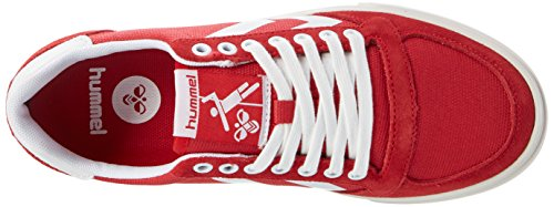 Hummel Slimmer Stadil Waxed Canvas Lo-Top, Sneakers Basses Mixte Adulte Rouge (Ribbon Red)