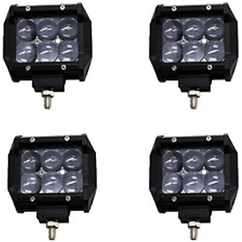 4x 30W Luce LED lavoro Bar Offroad 12V 24V Spot ATV Offroad per carrello 4x4 UTV,12V,Nero