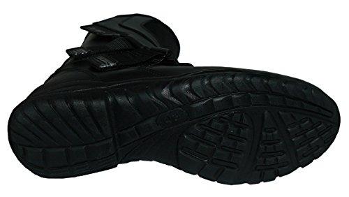 Protectwear TB-ALH-44 Motorradstiefel, Tourenstiefel, Allroundstiefel aus schwarzem Leder mit Klettverschluss, Größe 44, Schwarz - 3
