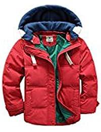 [ Winterjacke für Kinder Jungen Mädchen ] verdickte Daunenjacken Mantel Trenchcoat Outerwear mit Kapuzen