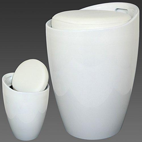gloss-abs-hidden-storage-ottoman-stool-seat-tub-stool-toy-box-laundry-basket-white