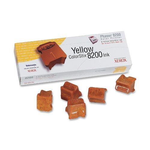 Phaser 8200 (Xerox 16204700 Phaser 8200 colorstix Standardkapazität 5 x 1.400 Seiten 5er-Pack, gelb)