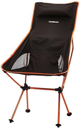 TOMSHOO Tragbare Folding Camping Hocker Stuhl-Sitz für Angel Festival Picknick Grill-Strand mit Tasche