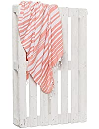 Montse Interiors Toalla Pareo Playa Reversible Tejida (Orange-1)