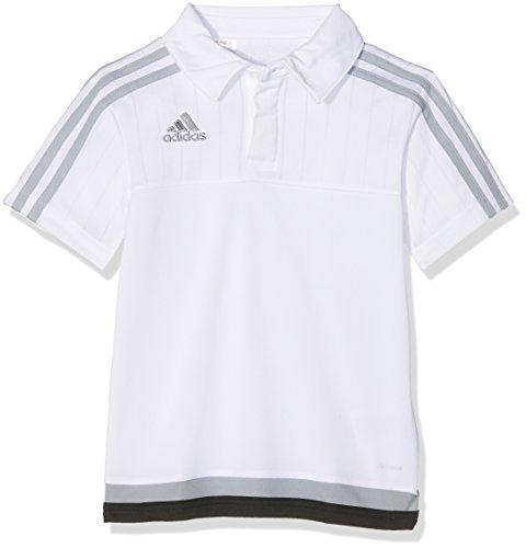 Adidas Mädchen-basketball-shorts (adidas Kinder Tiro15 cl pol y, Weiß/light grau/schwarz, 152, S22447)