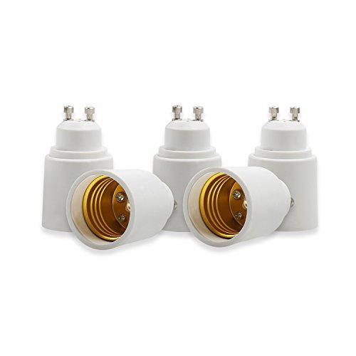 OnvianTech Konverter-Fassungen für Glühbirnen, von B22zu E27, Adapter für LED-Lampen, 5er-Packung, plastik metall, Gu10 to E27, GU10 to E27, E14