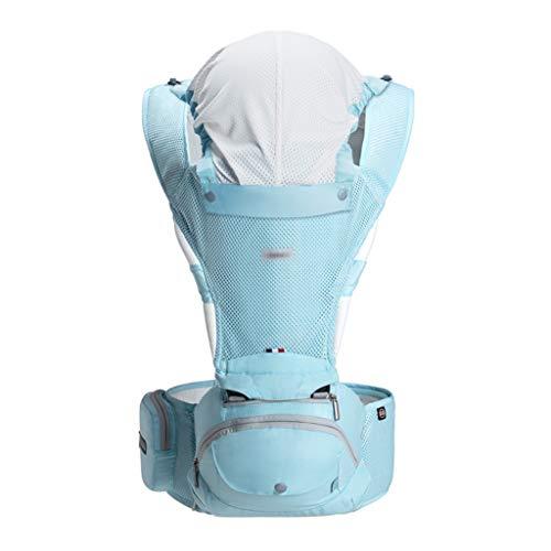 Qifengshop Neugeborenen-Gurt Four Seasons Multifunktions-Kinder-Taille-Hocker Tragetuch für Kinder 14,9 kg (Color : Blue, Size : 0)