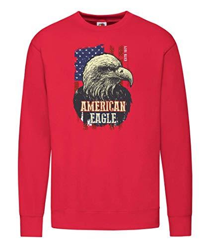 Druckerlebnis24 Sudadera con diseño de águila Americana, de pájaro, Unisex, para niños y niñas...