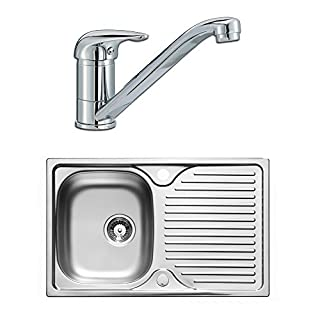 Astracast Quality Stainless Steel 1.0 Single Bowl Compact Sink & Lever Tap Pack