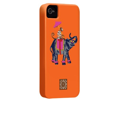 Case-mate iomoi Barely There Designer Cases for Apple iPhone 4/4s - Monkey with Umbrella Ling Elephant