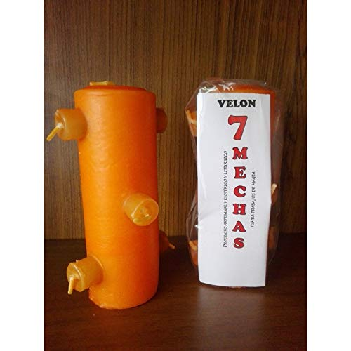 LCL velas VELON 7 MECHAS Color Naranja