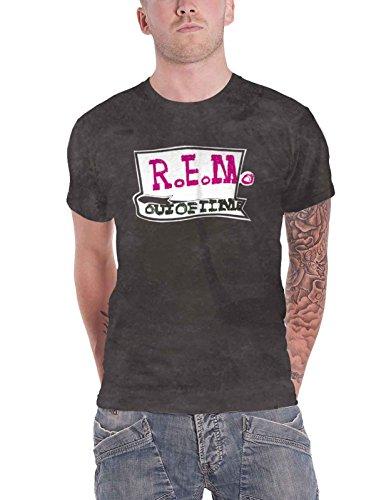 7f62eeba R.E.M. REM T Shirt Out of Time Band Logo Nouveau Officiel Homme Charcoal  Size M