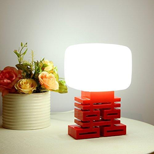 CLG-FLY Luce controllo suono e luce notte LED luci coppia matrimonio regalo idee regali nuovo matrimonio forniture incoraggiando lampada piccola lampada da comodino bianco,Luce