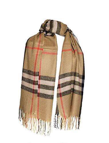 Luxuriöster, hochwertiger, dicker, schwerer Designer-Schal, beige