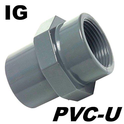 'PVC U Fitting adaptateur filetage manchon Diamètre 32 mm manchon adhésives sur IG 1 filetage intérieur Idéal pour pompes de bassin le koiteich