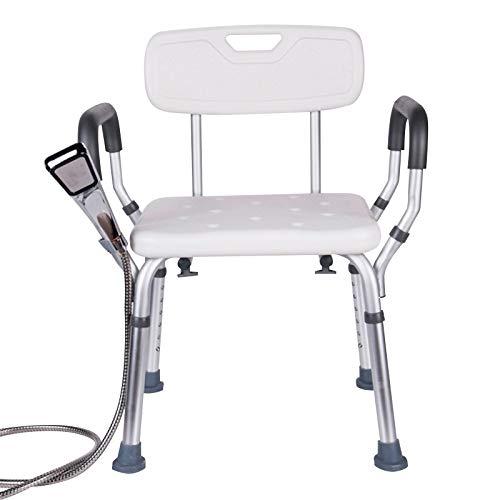 Tragbare Toilette Stühle (WG Toilettensitz Stuhl Ältere Bad Dusche Falten Tragbare Toilette Stühle Duschstuhl Ältere Sitz Kommode für 200 kg Bad Stuhl)