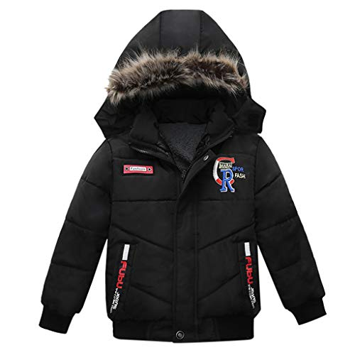 squarex ® Fashion Coat Kinder Winterjacke Kinder Mantel Boy Warm Hooded Jacket Kinder Reißverschluss Kleidung Baumwolljacke -