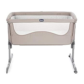 Chicco Next2Me Side Sleeping Bedside Crib - Chick 2 Chick - Foldable Side with Mesh Window, Transport Wheels and Includes Travel Bag