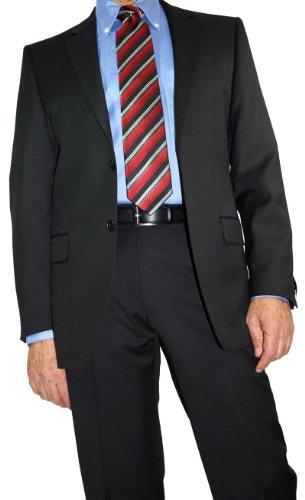 Schurwolle 2-knopf-anzug (Daniel Hechter Herren Regular-Fit 2-Knopf-Anzug schwarz in 110)