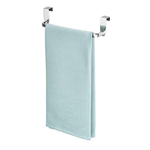 InterDesign Axis Toallero para paños de cocina, pequeño perchero para puerta de metal, toallero sin...