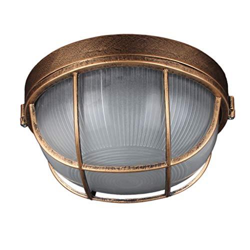 XEX Deckenleuchte, Tankstelle Explosionsgeschützte Lampe Indoor Outdoor WC Küche Wasserdicht Und Feuchtigkeitsbeständig Bronze Deckenleuchte (Color : Large 18W, Size : White Light) -
