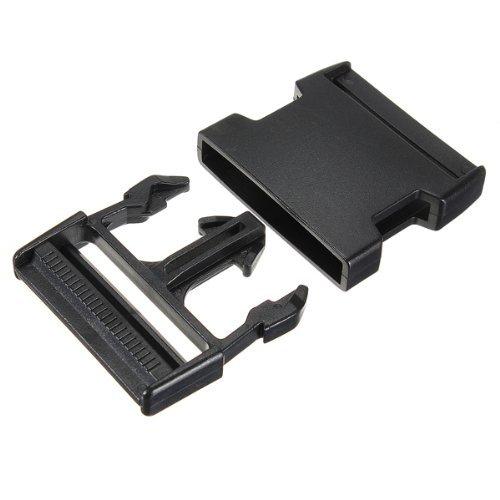 Preisvergleich Produktbild SODIAL(R) 38mm Steckschnalle GurtschnalleStecksch liesser Steckverschluss Gurtband Schwarz