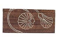 Boîte à thé en bois artisanale Wooden Tea Box organisateur de stockage de la cuisine condiments avec accessoires de souvenir de conception de la main à la main pour pendaison de crémaillère