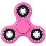 Earton Fidget Spinner-(2)-02 Bearing Ultra Speed Tri-Spinner Hand Spin Toy-Pink Wing Bearings