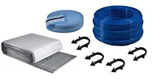 Buderus Fußbodenheizung Paket Kunststoffrohr Dämmplatten 30-3 mm Tackersystem, Fläche § buderus fußbodenheizungspaket:36 m²
