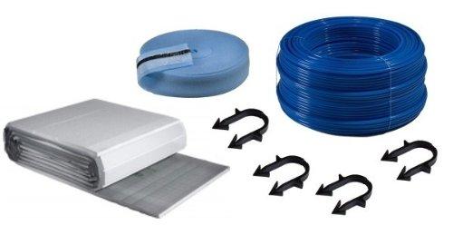 Buderus Fußbodenheizung Paket Kunststoffrohr Dämmplatten 30-3 mm Tackersystem, Fläche § buderus fußbodenheizungspaket:24 m²