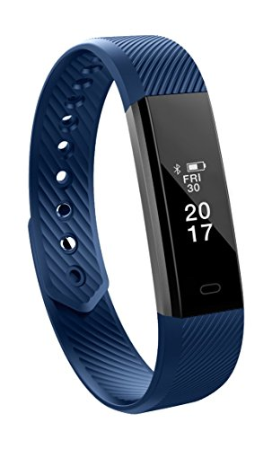 Schmaler Fitnesstracker Toksum Alfa, smartes Armband mit Touchscreen, Schrittzähler, Schlafmonitor für Kinder, Frauen und Männer, für iPhone und Android