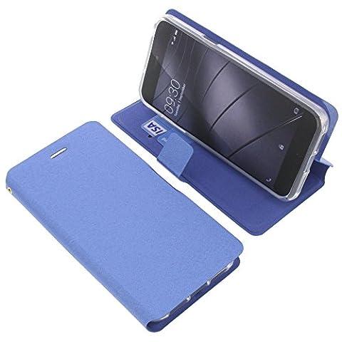 Tasche für Gigaset Me Pure Book Style blau Schutz Hülle