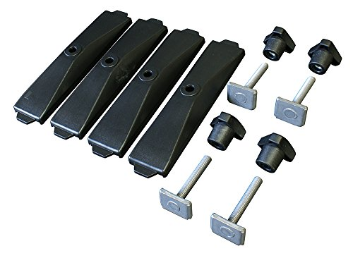 Thule 696600 Adattatore 696-6 T-Track per Box da Tetto Powerclick, 24 mm Set di 4