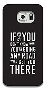 The Racoon Grip printed designer hard back mobile phone case cover for Samsung Galaxy S6. (Where you')
