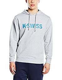 K Swiss Sudadera con Capucha K Spell Out Hd II Gris Claro XL