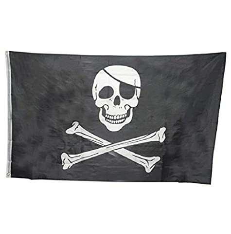 Ularmo D'énormes drapeaux 3x5FT Skull Crossbones Pirate Grommets Décoration