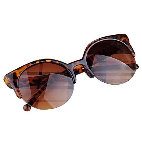 WLCLJJ Outdoor-Sport Radfahren Brille Brillen Vintage Retro Semi-Rim Runde Sonnenbrille Unisex Sonnenbrille (Color : C)
