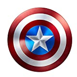 Jia He Tableau d'action Captain America Shield Marvel Autour de Captain Shield, Le héros 100% métallique des Avengers Sculpture...