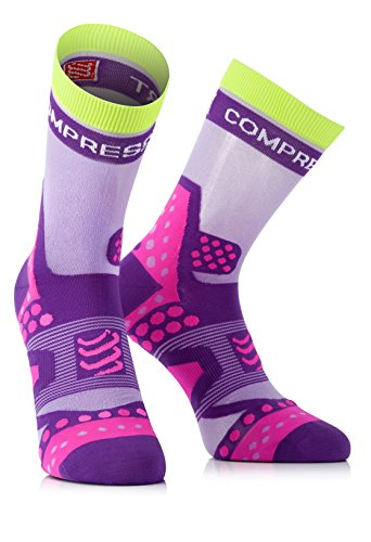 Compressport Run Ultralight - Calcetines de running unisex, color morado, talla 4