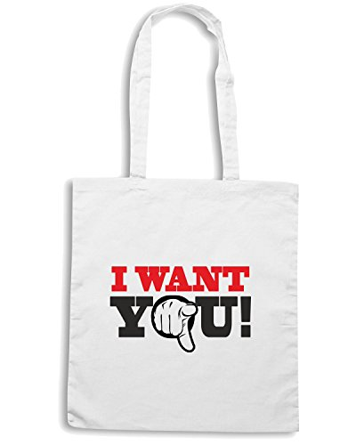 t-shirtshock-sac-shopping-t0164-i-want-you-fun-cool-geek-taille-capacita-10-litri