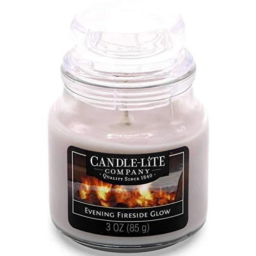 Scheda dettagliata Candle Lite-Candela Profumata in Barattolo di Vetro, Evening Fireside Glow 85G, Grigio, 6x 6x 9.5cm