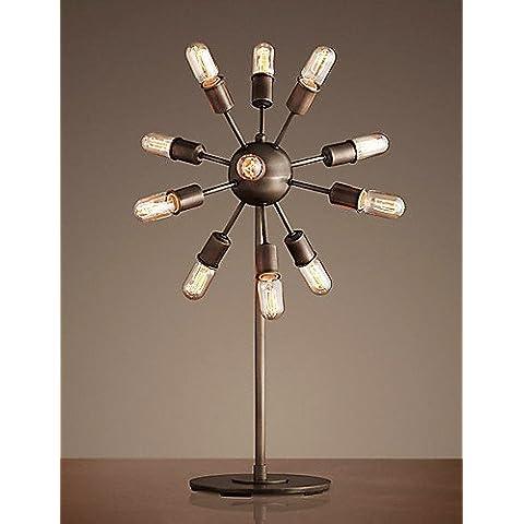 SSBY 60W E27 Lámpara de pie de hierro con 12 luces , 220-240v-white