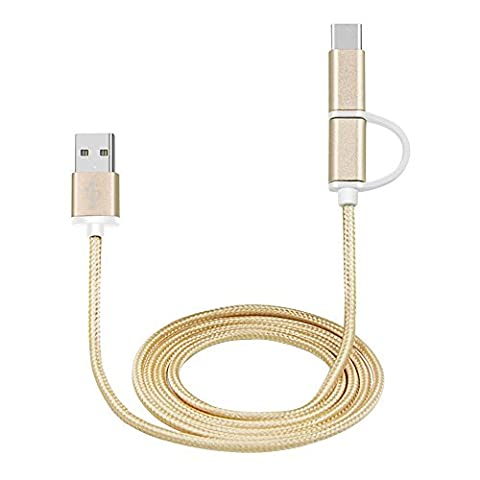 Cuitan 1.5m 2 en 1 Type-C / Micro USB Chargeur
